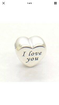 Authentic PANDORA charm bead #791422 WORDS OF LOVE I LOVE YOU