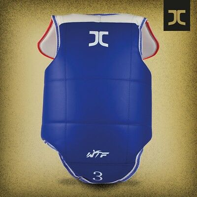 Reversible Chest Guard Protector by JCALICU ***NEW*** World Taekwondo Approved