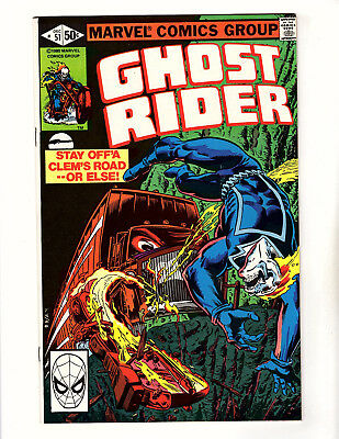 Ghost Rider #51 (1980, Marvel) VF/NM Vol 2 Bob Budiansky Michael Fleisher
