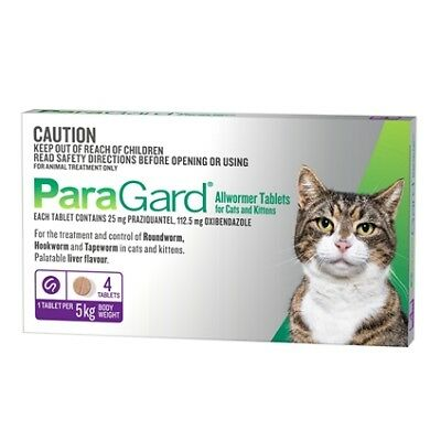 Paragard All Wormer Cats 0-5 kg 4 Tabs