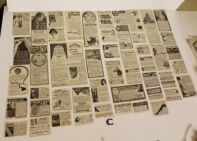 33 antique ads 1938 Atlanta Journal advertising lot vintage paper clippings S