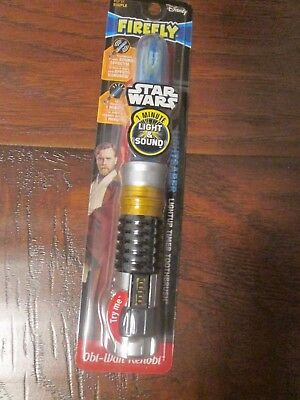 Child STAR-WARS OBI-WAN KENOBI Light-up Saber Toothbrush LIGHT & SOUND EFFECTS