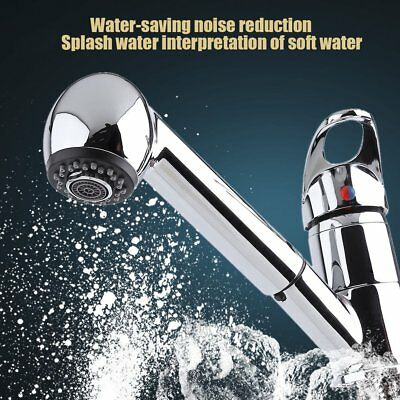 Classic Single Handle Kitchen Sink Faucet With Pull Out Spray - Stainless Steel