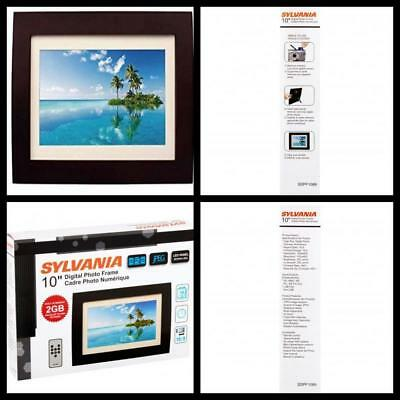 Sylvania 10 Inch LED Multimedia Digital Photo Frame Home office wall Decor NEW