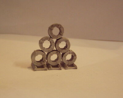 P&D Marsh N Scale n Gauge M57 Steel coils small + dunnage require painting