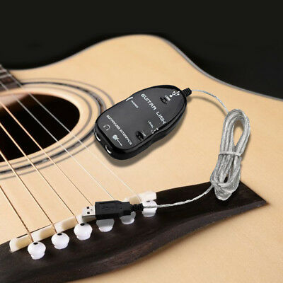 Guitar to USB Interface Link Cable Adapter MAC/PC Recording CD Studio Lapto N2U1