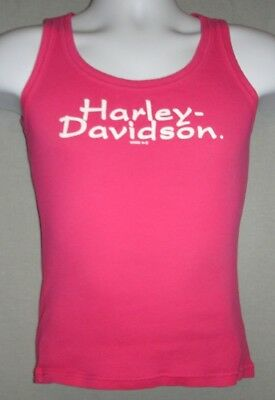 Harley Davidson Motorcycles Blue Springs HD Ribbed Tank Top Pink Womens  Size S