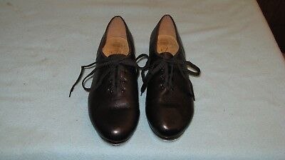 BIOCH Techno women black leather tap dance shoes size 12 #050341