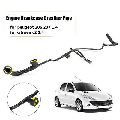 Engine Crankcase Breather Vent Hose Pipe ABS For Peugeot 206 207 Citroen C2 1.4