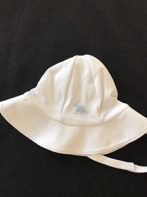 Kissy Kissy White Cotton Baby Hat Size Small
