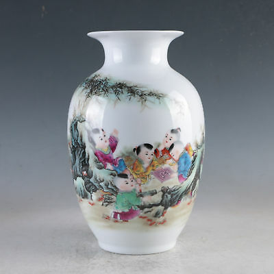 China Porcelain Hand-Painted Peach&Bird Vase Made By The Royal Of Qianlong