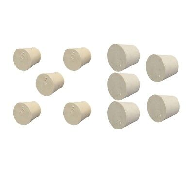 Rubber Stoppers - Laboratory Stopper - Tapered Plugs - 10 Pieces