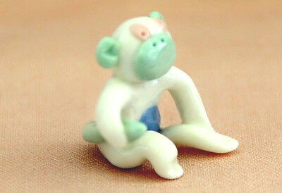 Adorable Handmade Miniature Stylized Monkey Figurine  Made in USA - Polymer Clay