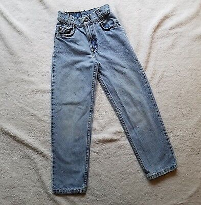 Vtg Levi's Orange Tab 550 Relaxed Fit Slim Youth Jeans Sz 9 Light Wash