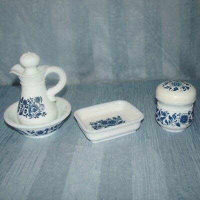 AVON Vintage Dutch Blue Set, Soap Dish, Pitcher with Lid & Bowl, Sugar Bowl, EUC