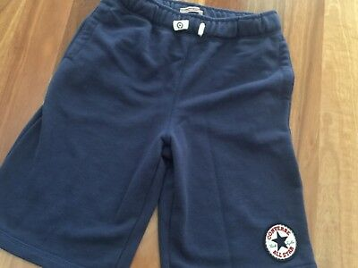 BNWOT BRAND NEW Boys Shorts Converse Designer Sports Short Navy Size 10 12 Kids