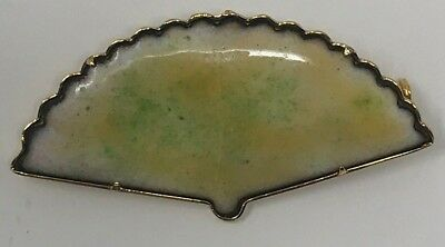Vintage! Antique Style HAND FAN Pin BROOCH Woman's Victorian Gold Color PRETTY
