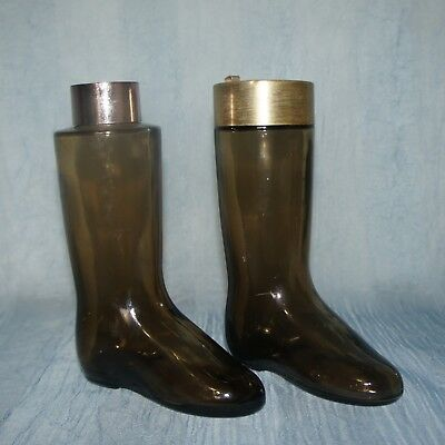 AVON Vintage Boot bottle, 2 on offer, Leather for Men, Different tops, Empty