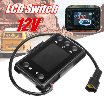 LCD Switch 12/24V 3/5KW Car Air Diesel Heater Remote Control Controller Timing