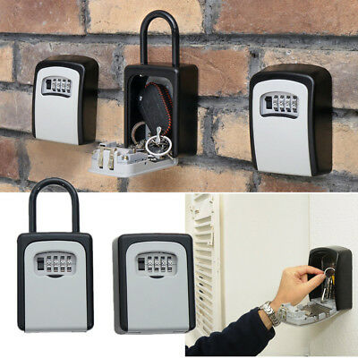 Combination Key Safe Security Storage Box Lock Case Cabinet Wall Mount Home Car