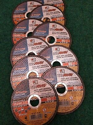 """10 x 115mm x 1.2mm  Flat thin Metal Cutting Discs 4.5"""" For Angle Grinder"""