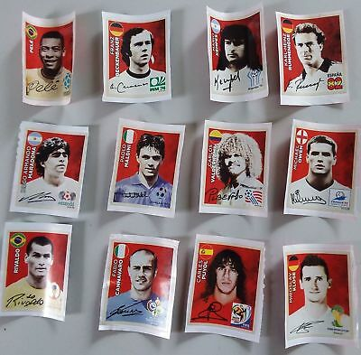 COCA COLA LEGENDS COMPLETE SET - Panini World Cup Russia 2018 Swiss Gold Edition