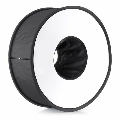 "18""/45cm Round Universal Collapsible Magnetic Ring Flash Diffuser Soft Box for C"