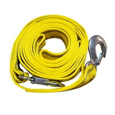 4M Heavy Duty 5 Ton Car Tow Cable Towing Pull Rope Strap Hooks Van Road Rec Q0V3