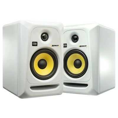 Krk Rp-5 G3 Rp5G3 Rokit White Couple (2) Studio Monitors New Special Offer