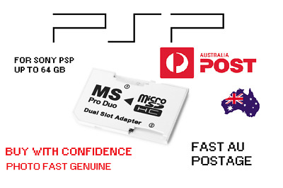 Photo fast Dual Micro SD to psp MS Pro Duo Adapter up to 64 gb for sony psp