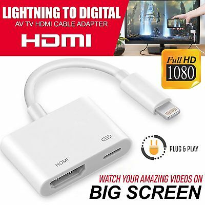 8 Pin Lightning to HDMI Digital TV AV Adapter Cable For Apple iPad& iPhone 7 8 X