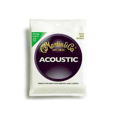 Martin M170 Acoustic Guitar Strings Bronze 80/20 10-47