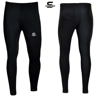 Sports Mens Winter Warm Thermal Leggings Base Layer Brushed Fleece NEW