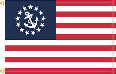 New 16x24 SEWN Yacht Ensign American Flag Boat Marine Size and grade Embroidered