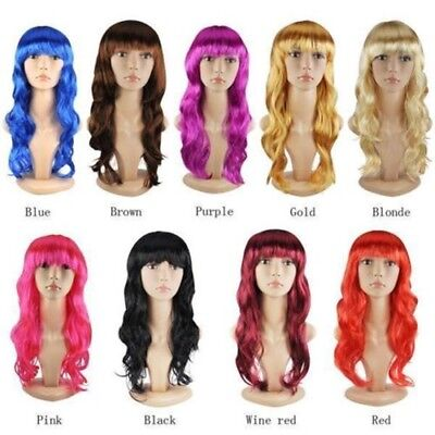 Sexy Women's Long Curly Fancy Dress Full Wigs Cosplay Costume Wig Party