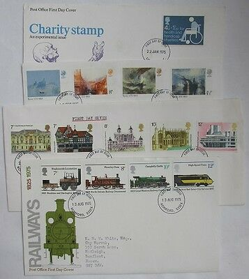 GB Stamps 1975 - 4 Commemorative First Day Covers