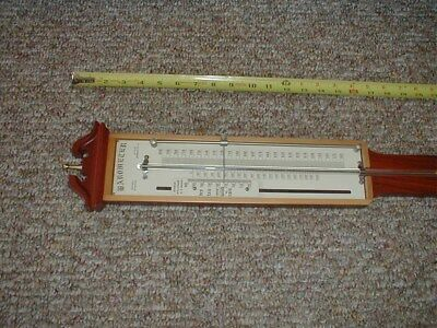 Italian Stick Barometer Wall With Inlays / Mahogany