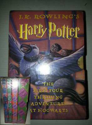 NIB J.K. Rowling's Harry Potter Set 1-4 The first Four Thrilling Books Adventure