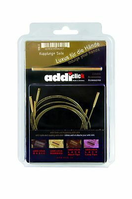 Addi Click Bamboo Cords and Connector, Set of 3