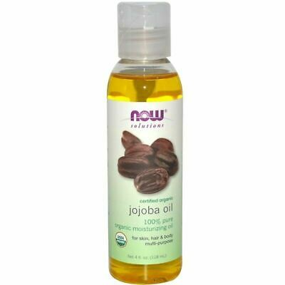 NOW FOODS - 100% Pure Jojoba Oil NON GMO Certified Organic 118ml Skin Hair Body