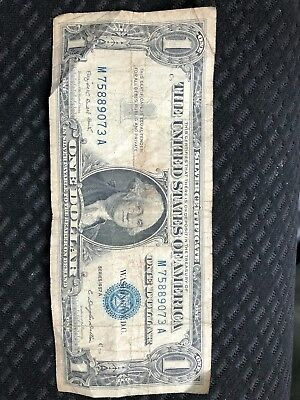 Silver Certificate 1957 1 Dollar Bill Paper Money Note United States American