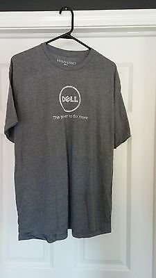 Mens T-Shirt  Dell Large Grey