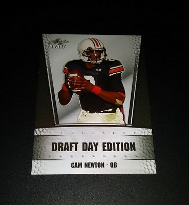 Cam Newton Panthers RC Rookie Leaf Draft 2011 Trading Card NFL Football