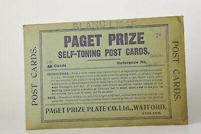 Paget Prize Plate Co. Self-Toning Post Cards. 3 Cartes Postales