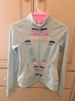 Ivivva By Lululemon Girls Size 14 Blue Perfect Your Practice Jacket Full Zip