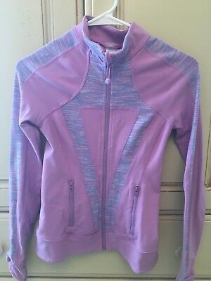 Ivivva By Lululemon Girls Size 12 Purple Perfect Your Practice Jacket Full Zip