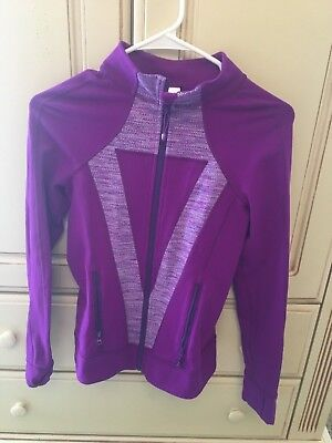 Ivivva By Lululemon Girls Size 14 Purple Perfect Your Practice Jacket Full Zip
