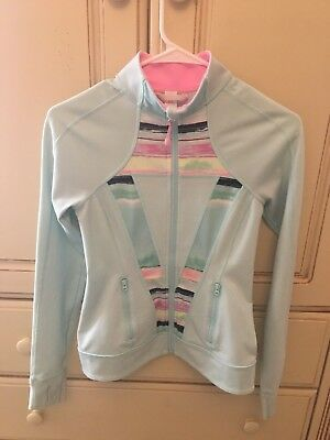 Ivivva By Lululemon Girls Size 14 Mint Perfect Your Practice Jacket Full Zip