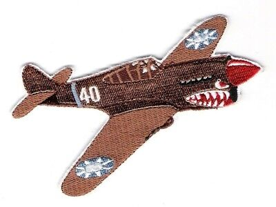 P40 FLYING TIGER Airplane Aircraft Aviation Collectable Military Patch Tan