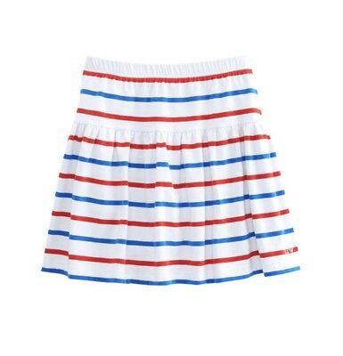 NWT Vineyard Vines Girls Stripe Knit Pull On Skirt Red White Blue Size Large 14